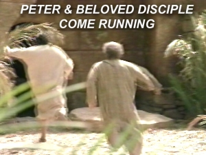 X PETER BELOVED DISCIPLE COME RUNNING
