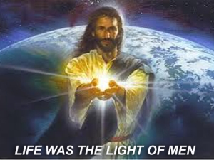 X LIFE WAS THE LIGHT OF MEN