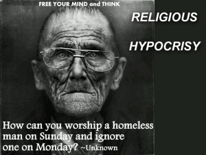 X RELIGIOUS HYPOCRISY