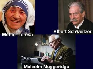 X muggeridge, teresa, schweitzer