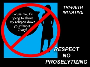 X RESPECT NO PROSELYTIZING